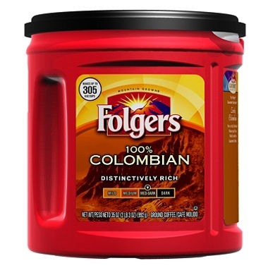Folgers 100 Colombian Coffee 35oz